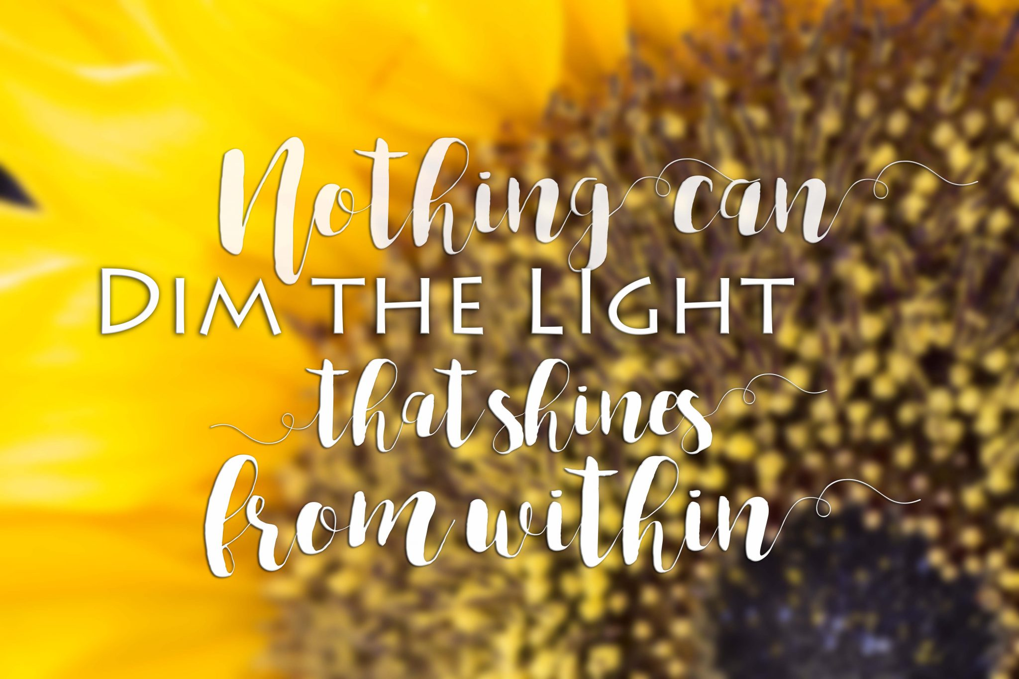 Nothing can dim the light that shines within